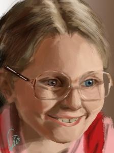 Fast painting Little Miss Sunshine