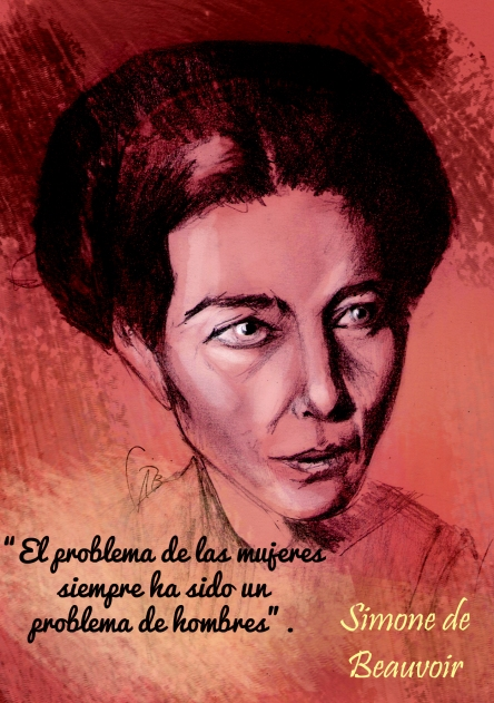 Simone de Beauvoir Retrato