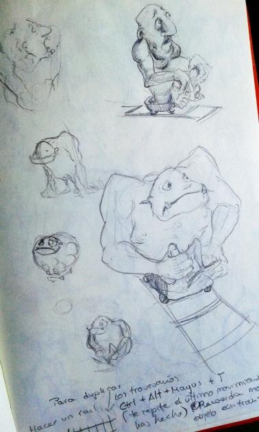 sketching una ilustración digital