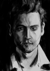 Johnny Depp Retrato