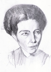 Simone de Beauvoir dibujo
