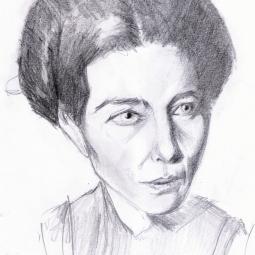 Simone de Beauvoir dibujo